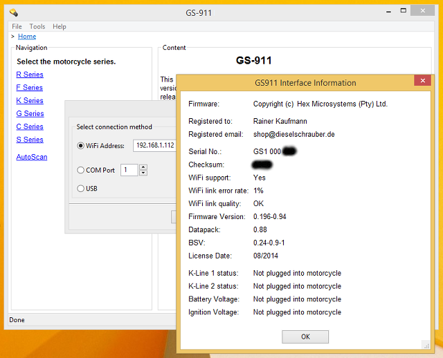 GS-911 WIFI Software